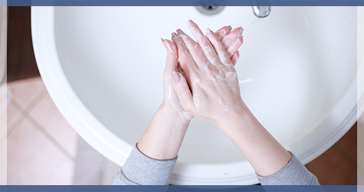 Regularly wash your hands with soap and water for 20 seconds to help prevent COVID-19 infection